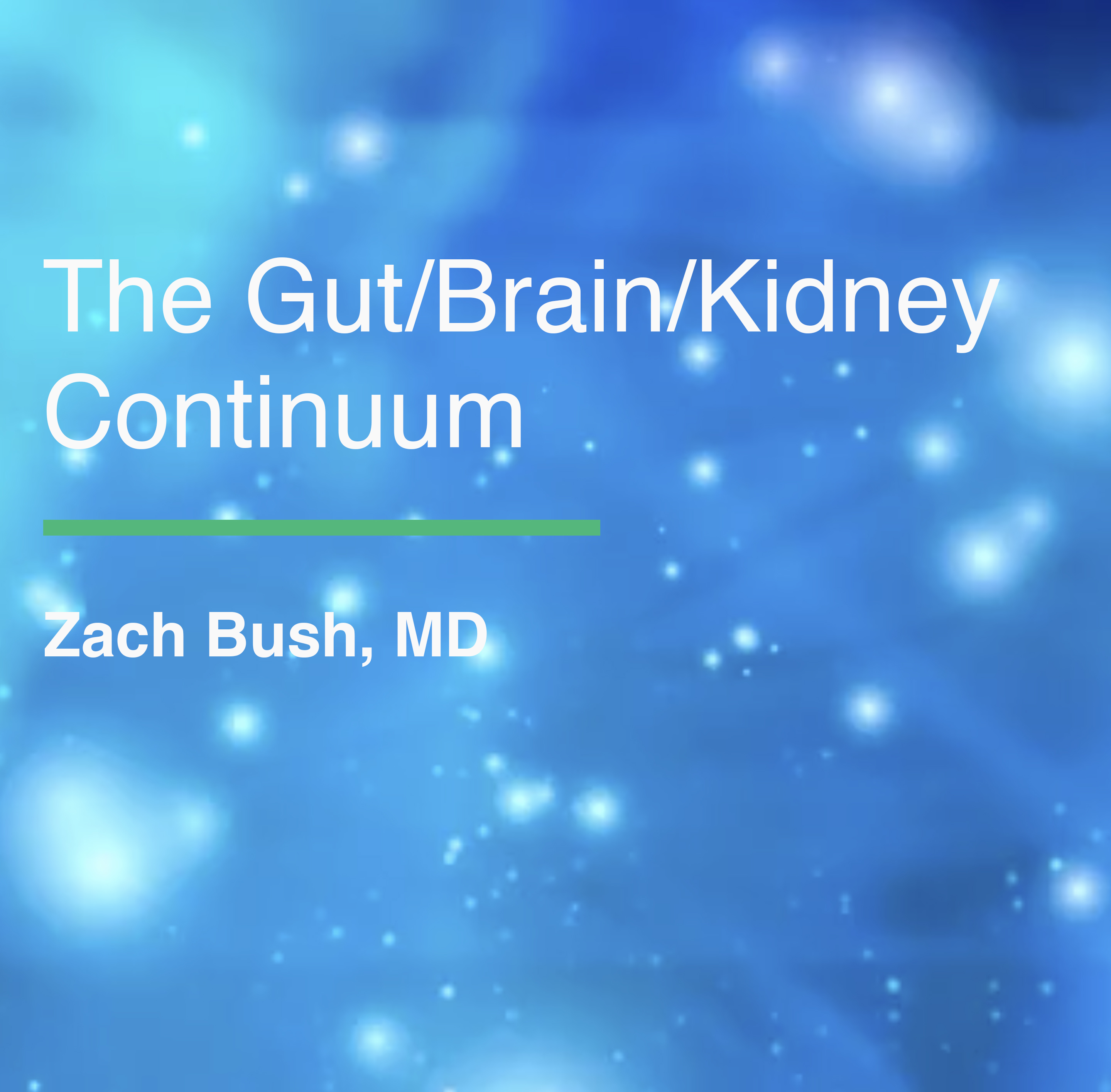ACIM Fellowship Webinar Series - The Gut/Brain/Kidney Continuum by Zach Bush, MD WGBKC